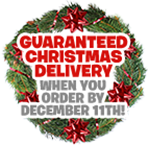 Guaranteed Christmas Delivery when you order by December 11th